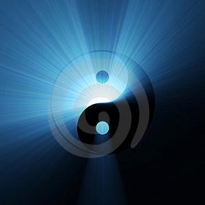 Yin-yang-blue