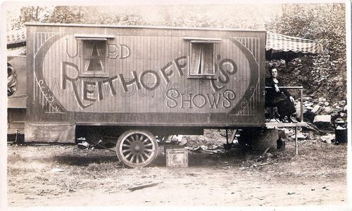 PA Duryea 1920s Reithoffer Carnival Trailer