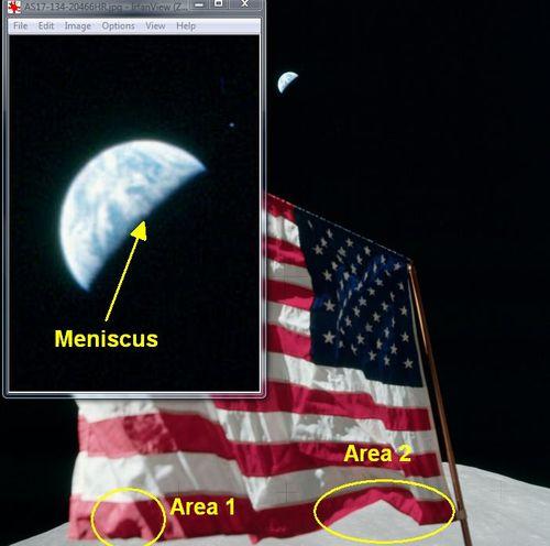 Flag earth composite