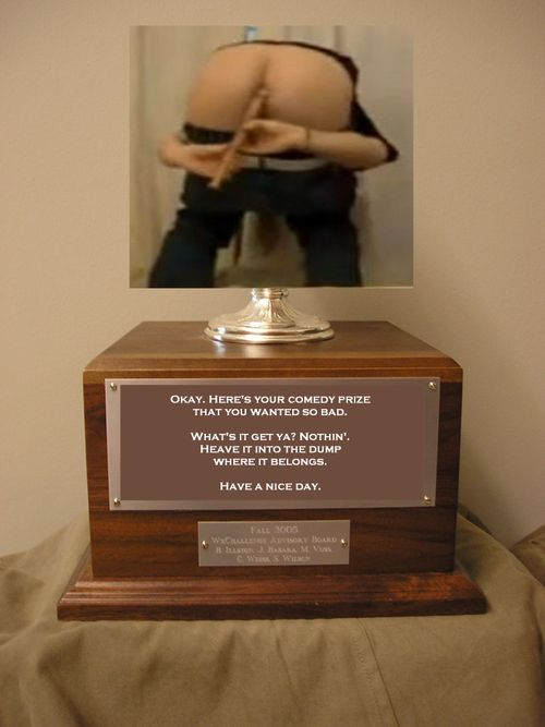 Fart noise trophy